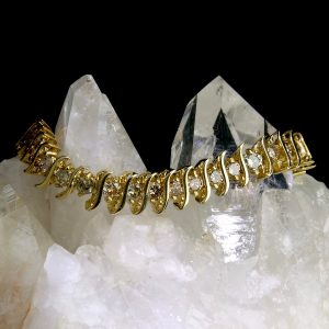 14k yellow gold tennis bracelet with 43 diamonds 8 cttw
