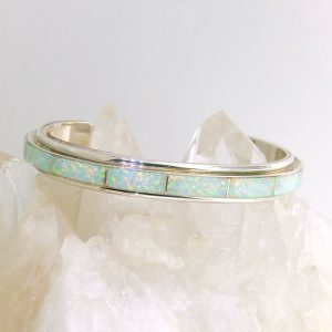 Sterling Silver and opal cuff
