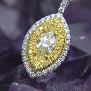 marquise center stone pendant