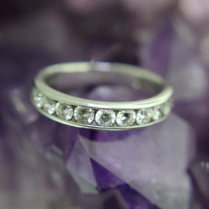 18k White Gold with 10 Channel Set Diamonds