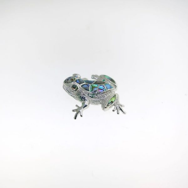 Sterling Silver Frog Pin Abalone