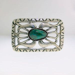 Sterling Silver Belt Buckle Turquoise