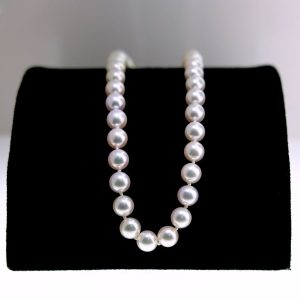 Akoya Pearl Necklace With White Gold Clasp