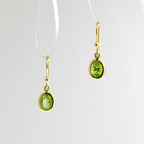 vermeil earrings with peridot