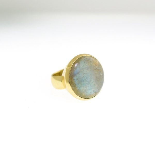 vermeil ring with labradorite size 9