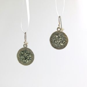 Sterling silver earrings with pyrite inlay david urso