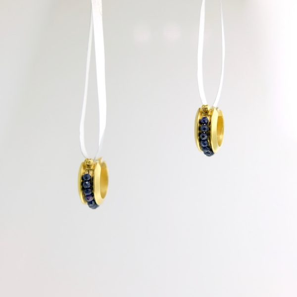 vermeil earrings with sapphire beads kinzig design